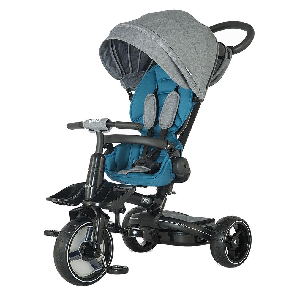 Tricicleta multifunctionala si pliabila Coccolle Alto Blue