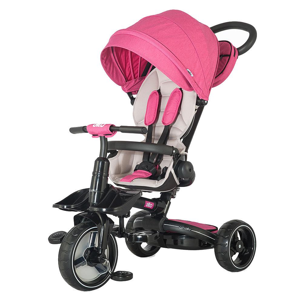 Tricicleta multifunctionala si pliabila Coccolle Alto Pink
