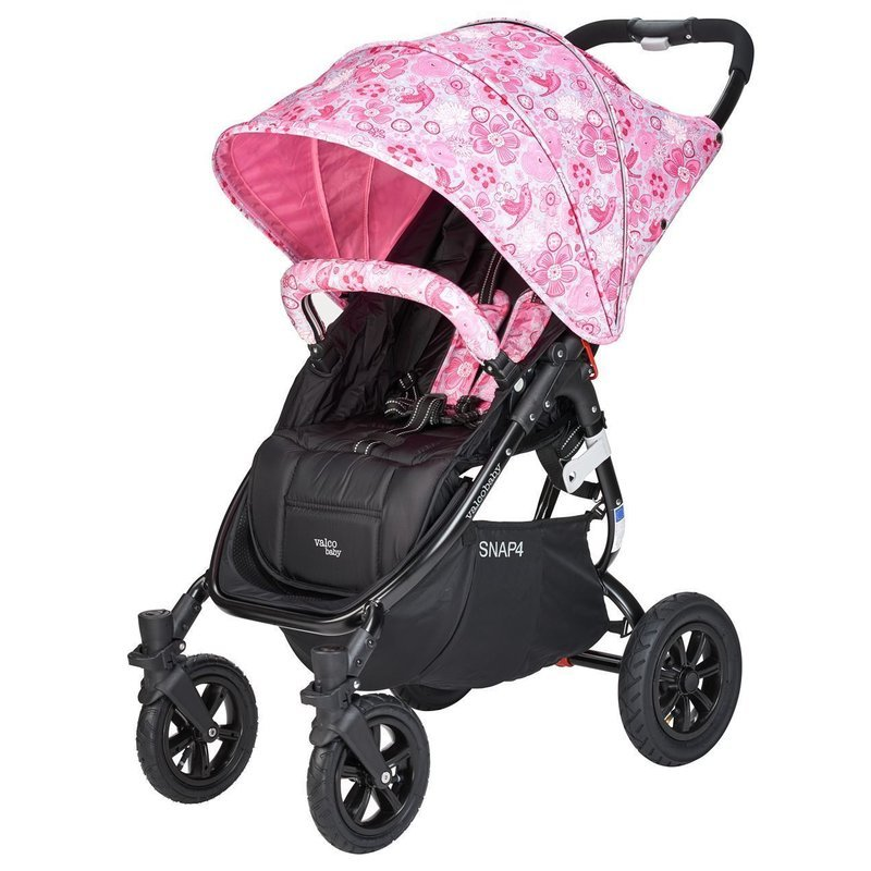 Carucior sport cu roti gonflabile Snap 4 CZ Edition White and Pink Flowers