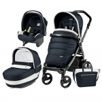 Carucior 3 In 1 Peg Perego Book Plus 51 Black Completo Elite Luxe Blue