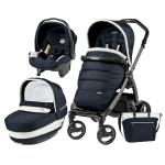 Carucior 3 In 1 Peg Perego Book Plus S Black Completo Elite Luxe Blue