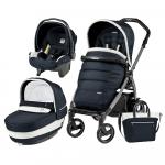 Carucior 3 in 1 Peg Perego Book Plus 51 S Black Completo Elite Luxe Blue