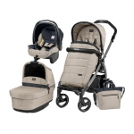 Carucior 3 in 1 Peg Perego Book Plus 51 S Black Pop-Up Elite Luxe Beige