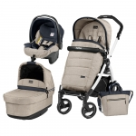 Carucior 3 in 1 Peg Perego Book Plus 51 S Black&White Pop-Up Elite Luxe Beige