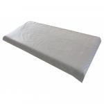Cearsaf cu elastic roata 120x60 cm Buline albe pe gri