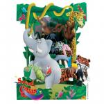 Felicitare 3D swing cards dinamica model animale din jungla