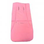 Husa de bumbac pentru carucior Uni roz