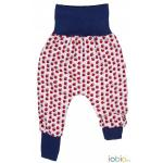 Pantaloni din bumbac organic Iobio Cranberry 74/80