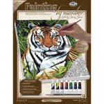 Pictura pe panza tigru