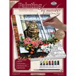 Pictura pe panza pisica la geam