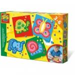 Prescolari Set creativ mozaic cu pom-pom (4 modele)