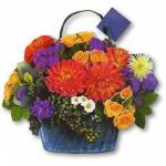 Punga de hartie cosulet cu flori