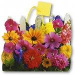 Punga de hartie gard cu flori