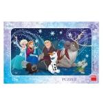 Puzzle - Frozen Snowflakes (15 piese)