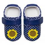 Pantofiori bebelusi Polka Sunflower Navy 23