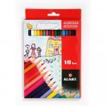 Set 18 creioane colorate