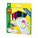 Set markere pentru textile (8 buc)