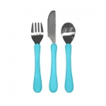 Set tacamuri de invatare Learning Cutlery Green Sprouts iPlay Aqua