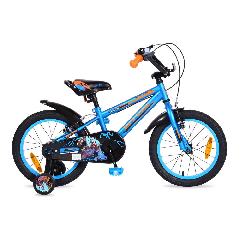 Bicicleta pentru baieti Byox Monster Blue 16 inch
