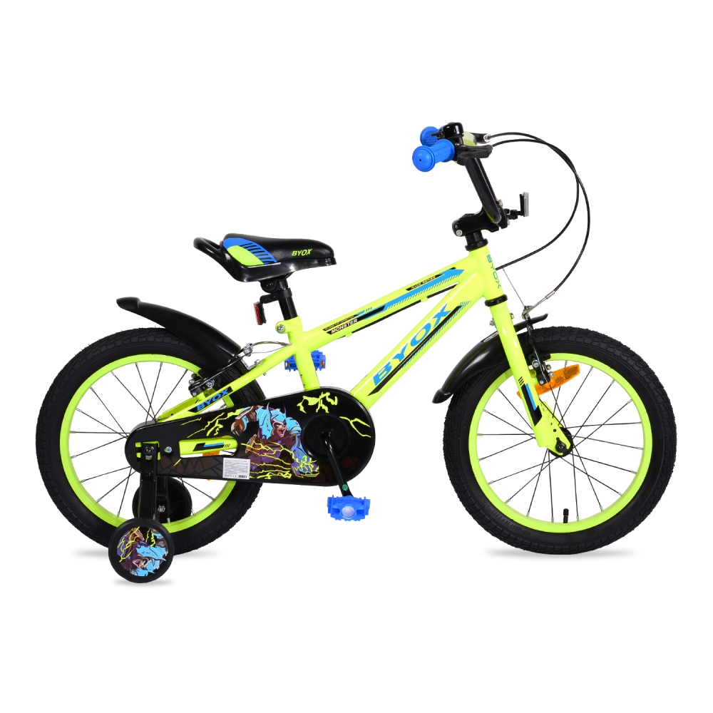 Bicicleta pentru baieti Byox Monster Green 16 inch