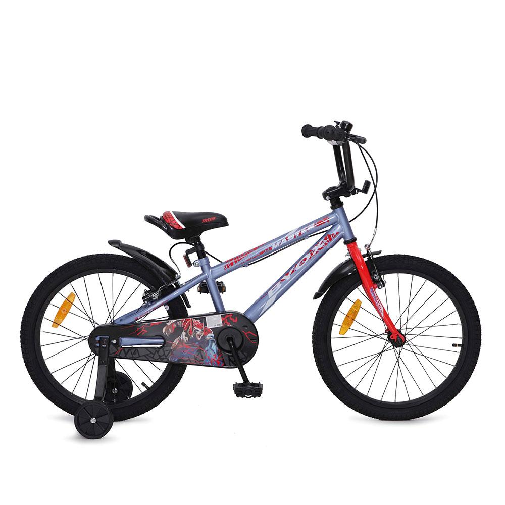 Bicicleta pentru baieti cu roti ajutatoare Byox Master Prince Grey 20 inch