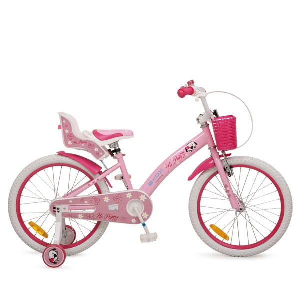 Bicicleta pentru fetite cu roti ajutatoare Byox Puppy 20 inch din categoria La Plimbare de la Byox