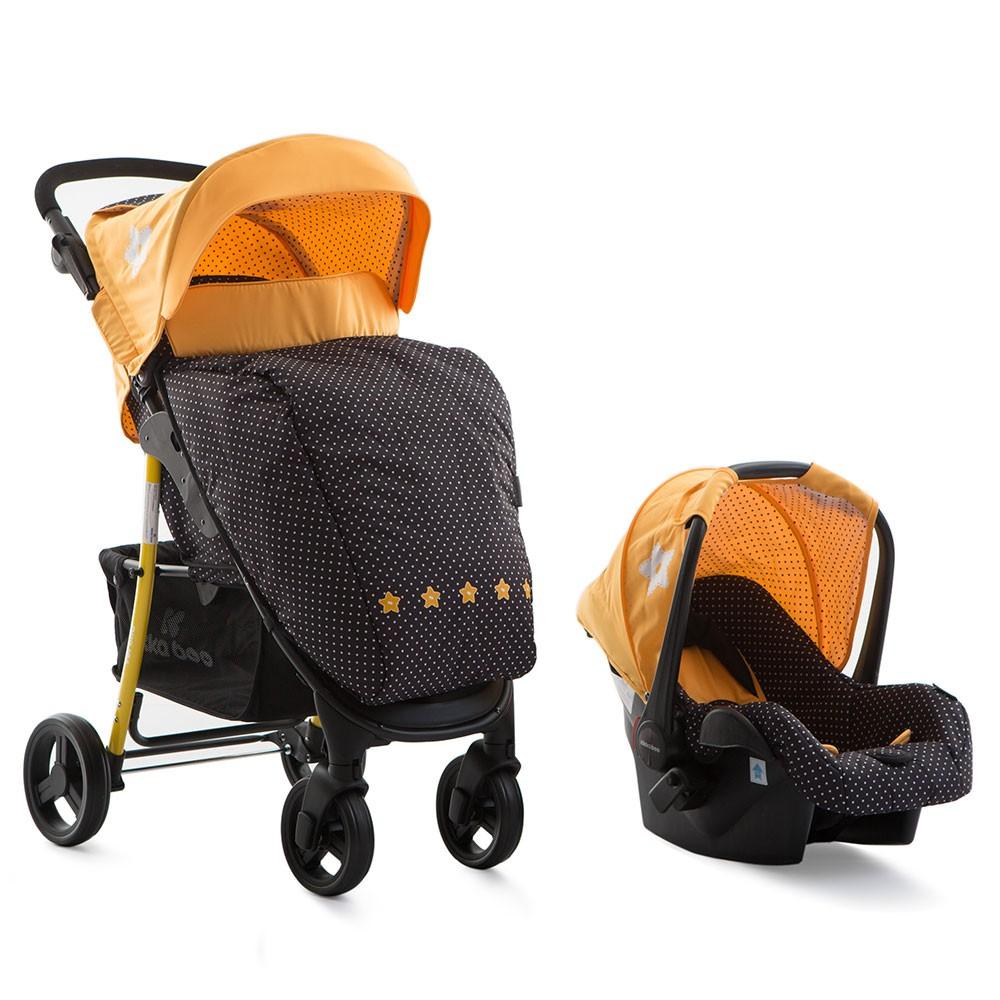 Carucior 2 in 1 cu scaun de masina Verona Yellow