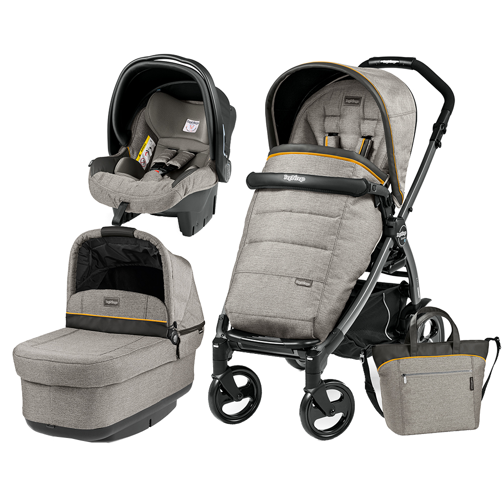 Carucior 3 In 1 Peg Perego Book Plus 51 Black POP-UP Elite Luxe Grey
