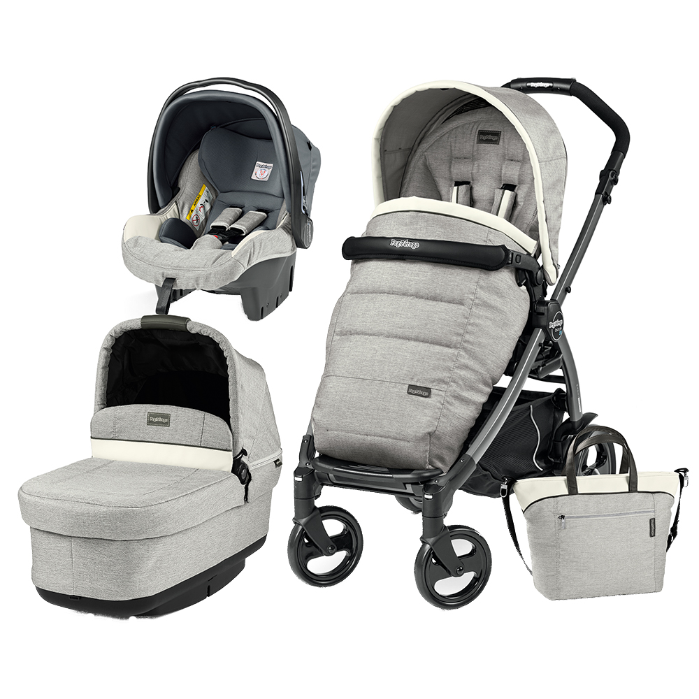Carucior 3 In 1 Peg Perego Book Plus 51 Black POP-UP Elite Luxe Opal