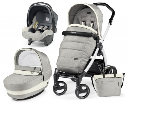 Carucior 3 In 1 Peg Perego Book Plus S BlackWhite POP-UP Elite Luxe Opal