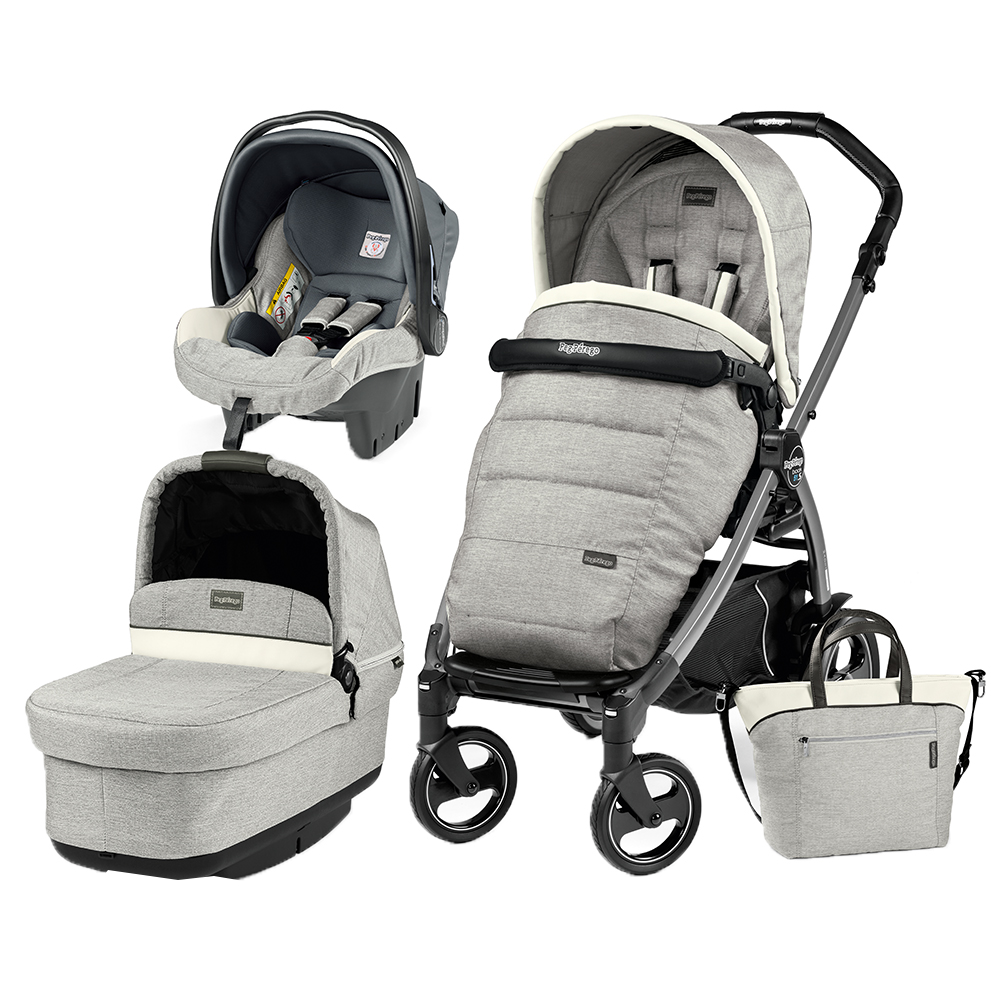 Carucior 3 in 1 Peg Perego Book Plus 51 S Black Pop-Up Elite Luxe Opal