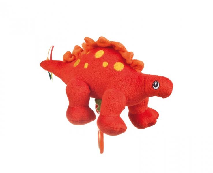 Cutie muzicala din plus Dinozauri portocaliu