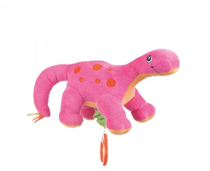 Cutie muzicala din plus Dinozauri roz