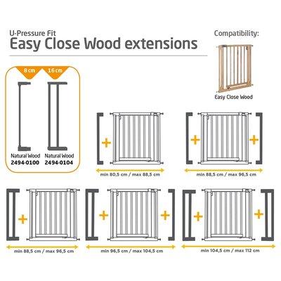 Extensie 8cm poarta Easy Close Wood Safety 1St imagine