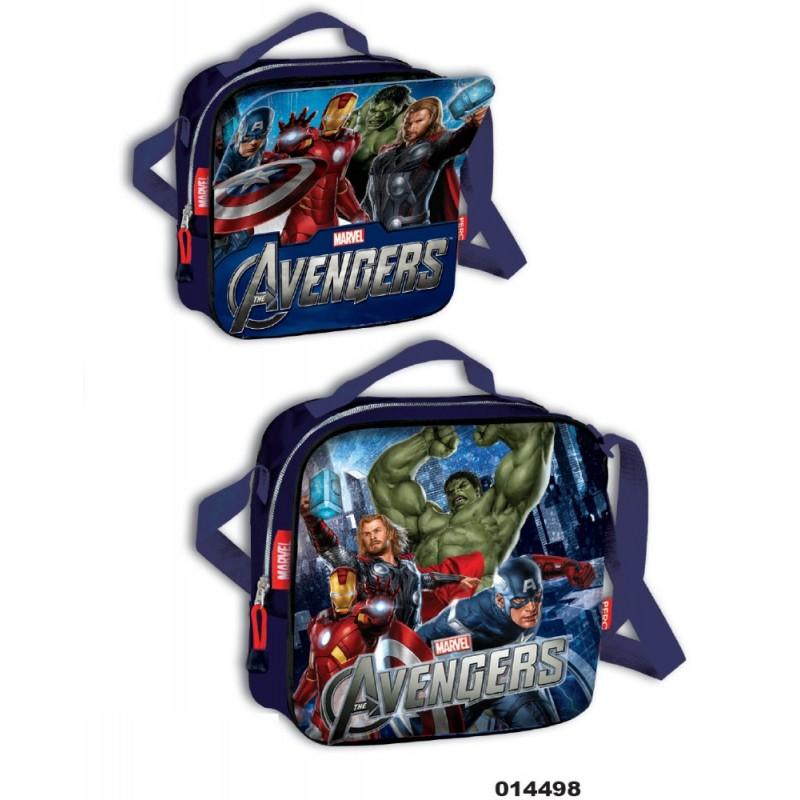 Geanta de umar termoizolanta cu magnet pentru gradinita Avengers imagine