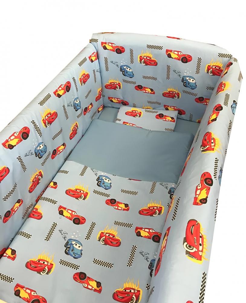 Lenjerie de pat Maxi Cars 120×60 cm din categoria Camera copilului de la DESEDA