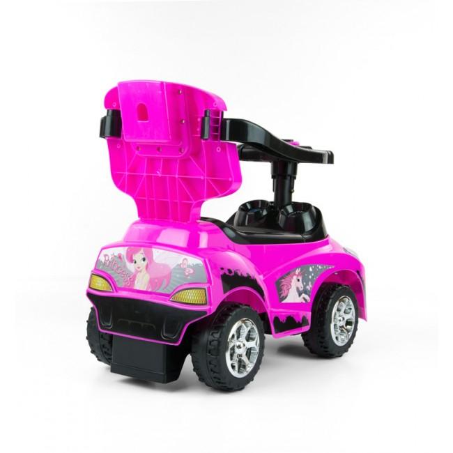 Masinuta pentru copii 3 in 1 Happy Pink