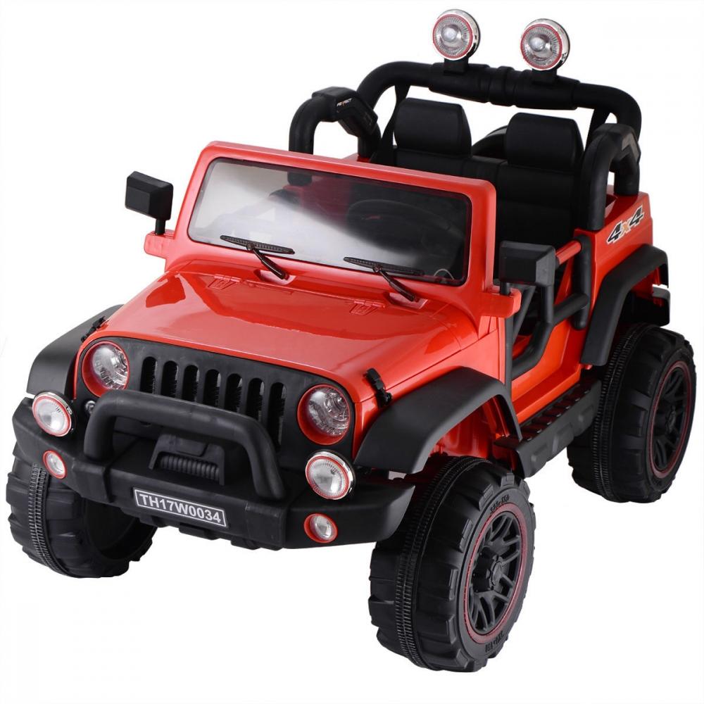Masinuta electrica cu doua locuri Rocket Jeep Fearless Red