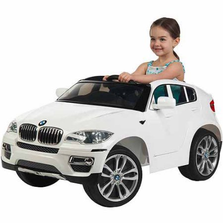 Masinuta electrica cu display electronic BMW X6 White