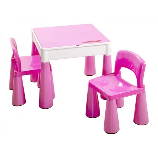 Masuta Mamut cu 2 scaunele Roz