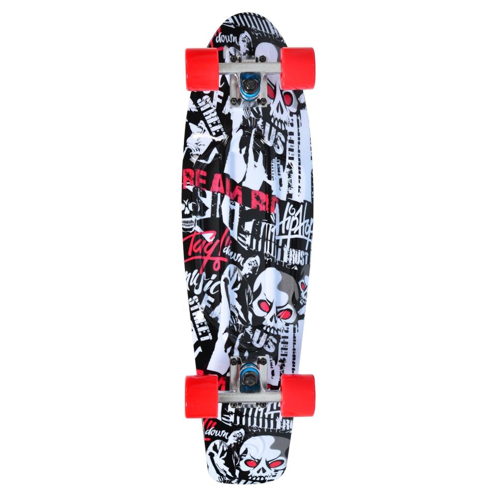 Penny board Skull Abec-7 imagine