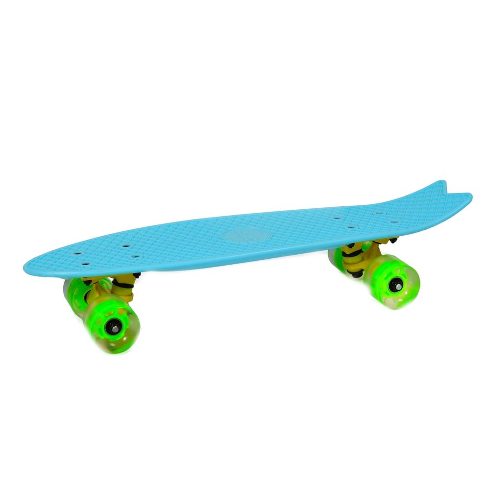 Penny Board Pastel Abec-7 Roti Luminoase Blue
