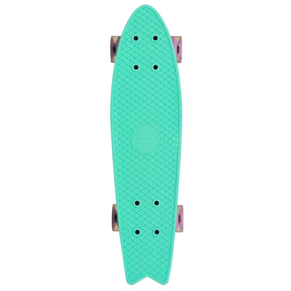 Penny board Pastel Abec-7 roti luminoase Green imagine
