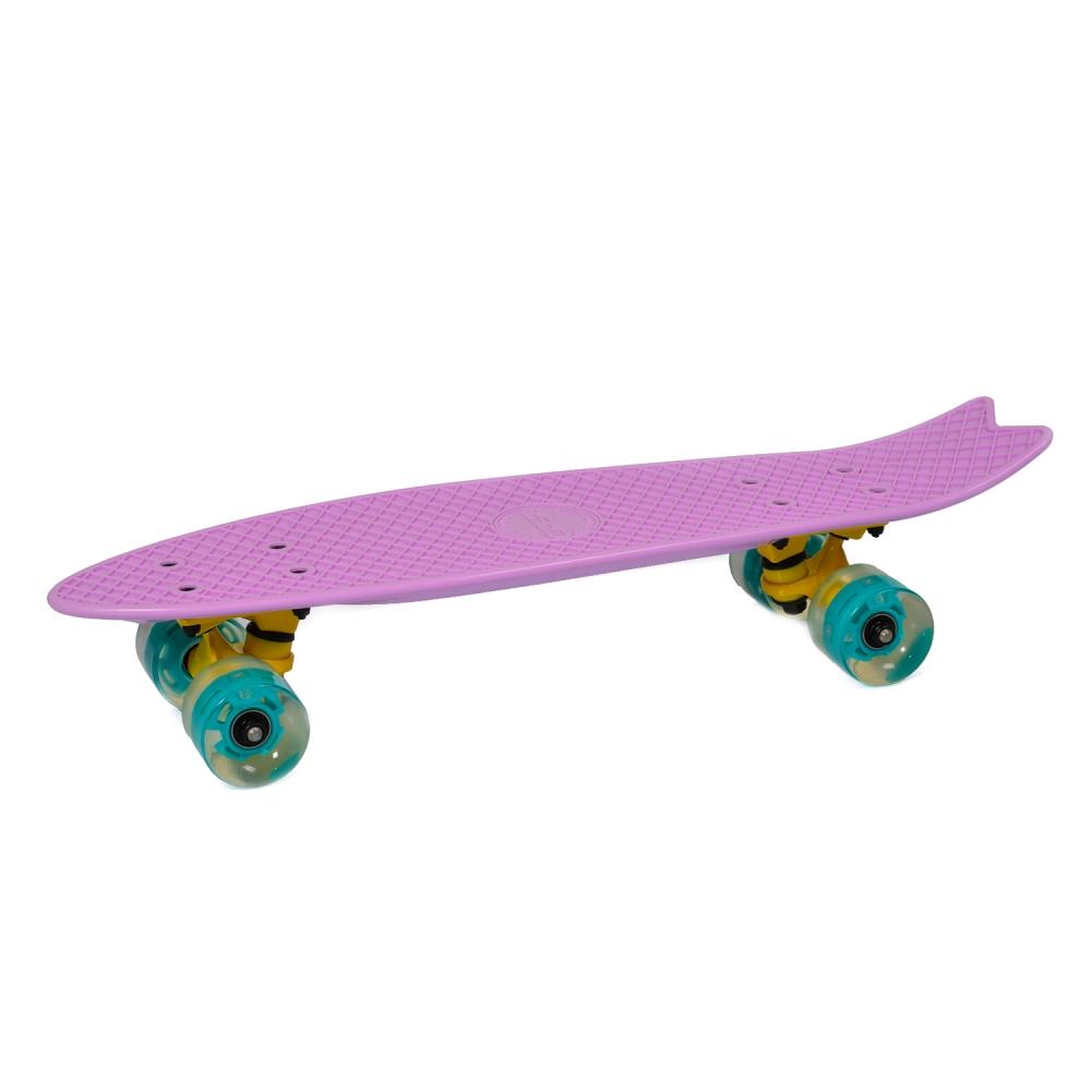 Penny Board Pastel Abec-7 Roti Luminoase Purple