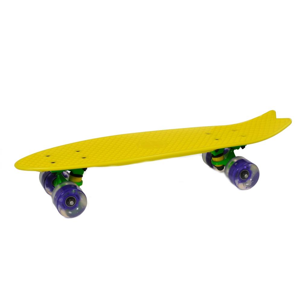 Penny Board Pastel Abec-7 Roti Luminoase Yellow