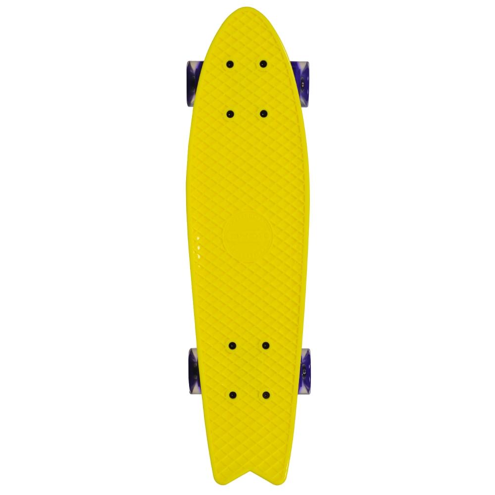 Penny board Pastel Abec-7 roti luminoase Yellow imagine