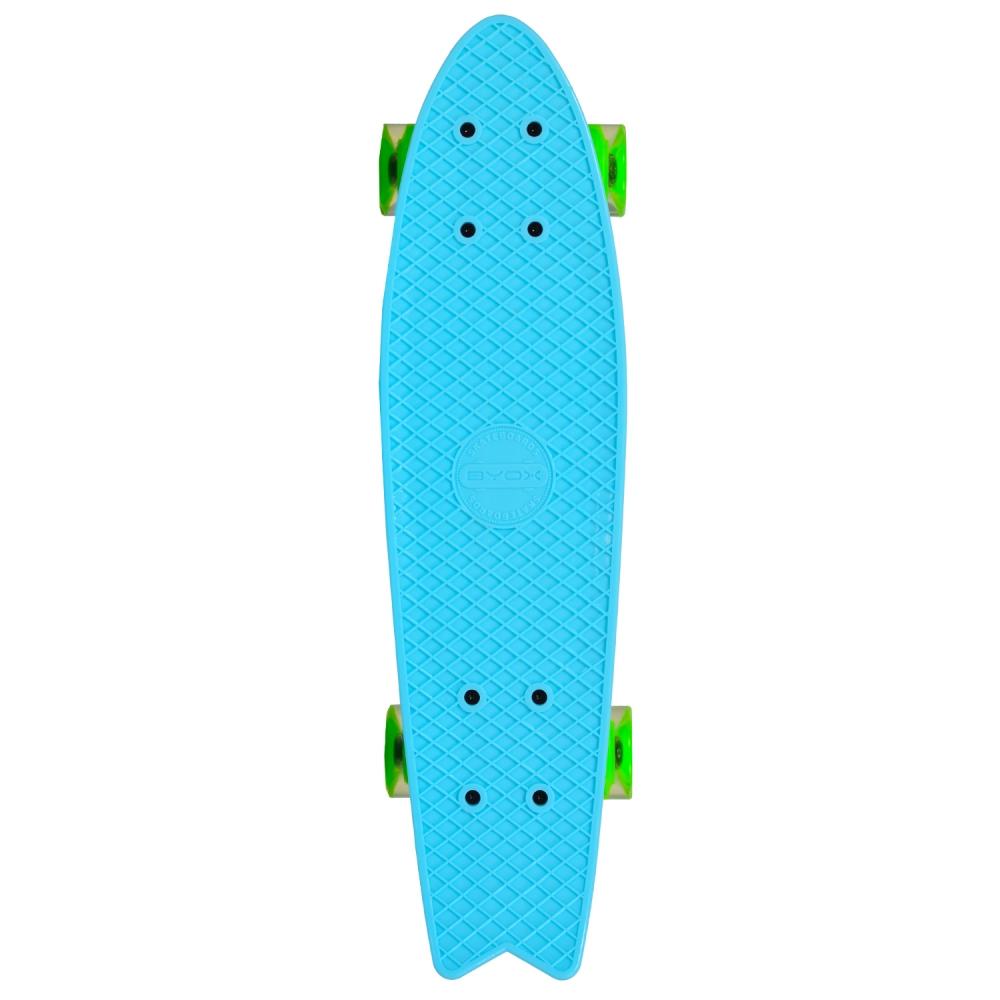 Penny board Pastel Abec-7 roti luminoase Blue imagine