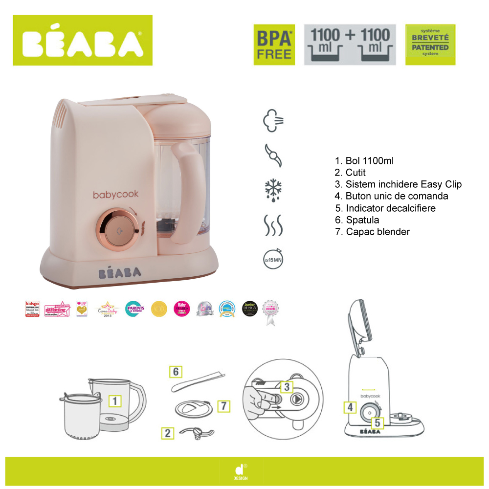 Robot Babycook Pink Editie Limitata imagine