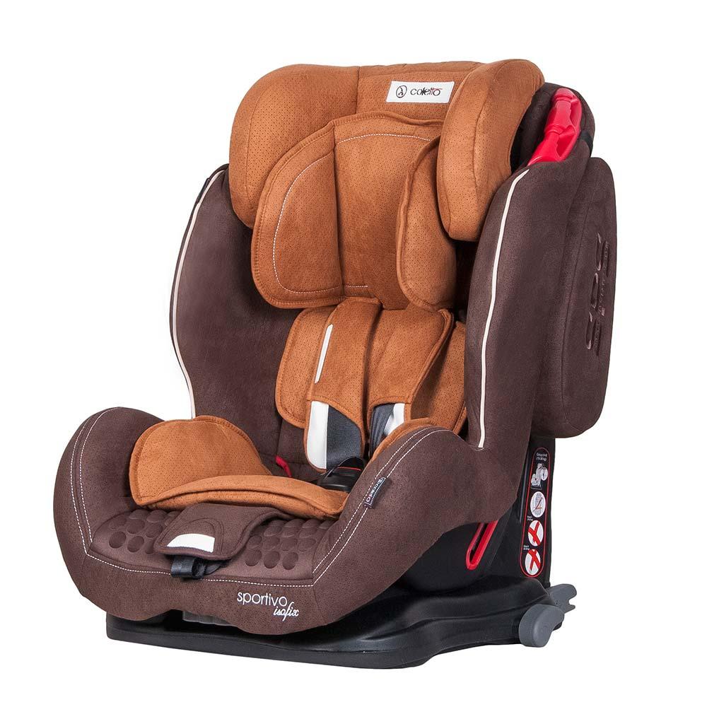 Scaun Auto Sportivo Cu Isofix Brown Coletto