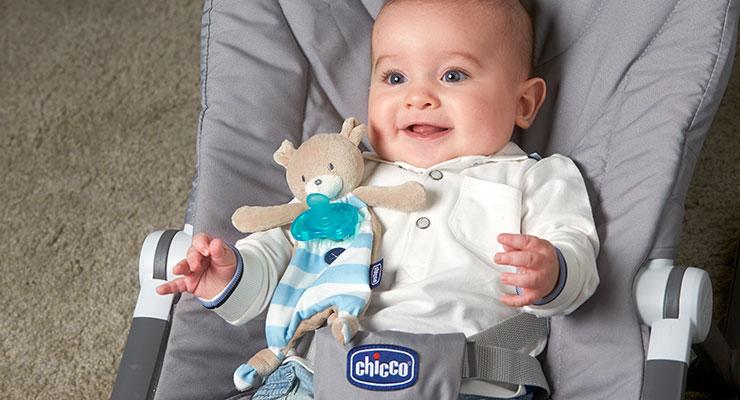 Suport suzeta Chicco 3 in 1 Pocket Friend albastru